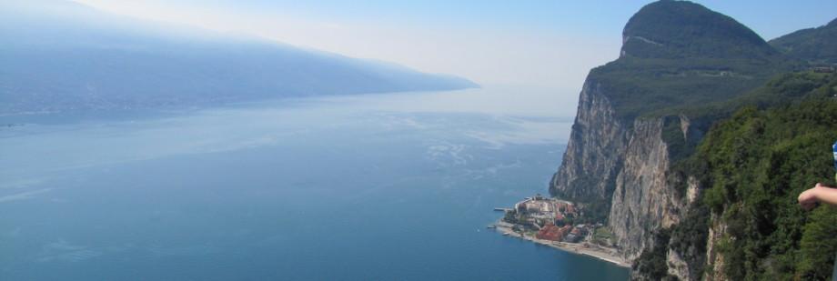 Blick über den Gardasee - Campione